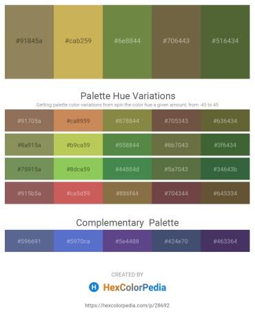 Palette image download - Dark Khaki – Dark Khaki – Dark Olive Green – Dark Olive Green – Dark Olive Green
