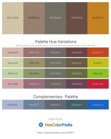 Palette image download - Tan – Gray – Dim Gray – Dim Gray – Chocolate