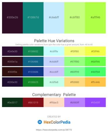 Palette image download - Medium Spring Green – Teal – Light Cyan – Pale Green – Green Yellow