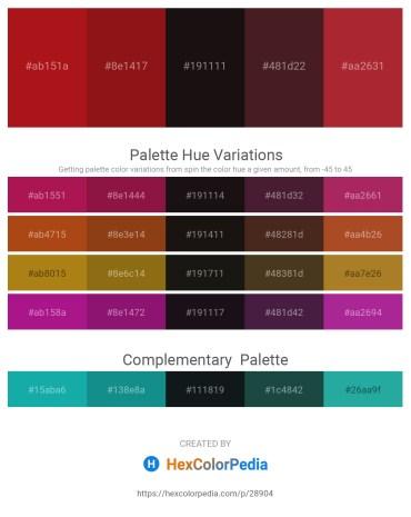 Palette image download - Firebrick – Saddle Brown – Black – Blue – Brown