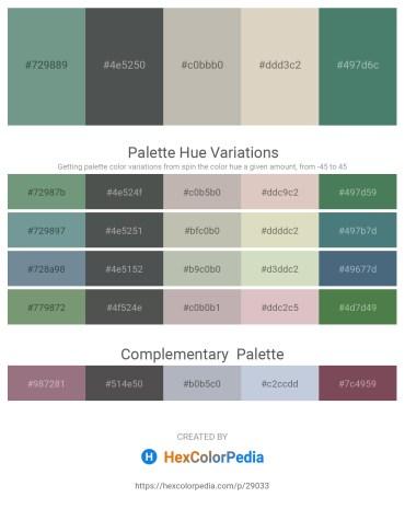 Palette image download - Cadet Blue – Dark Slate Gray – Silver – Tan – Cadet Blue