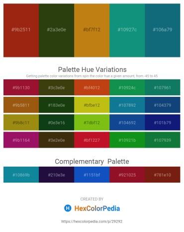 Palette image download - Saddle Brown – Medium Purple – Dark Goldenrod – Light Sea Green – Teal