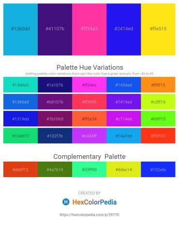 Palette image download - Deep Sky Blue – Midnight Blue – Deep Pink – Blue – Gold