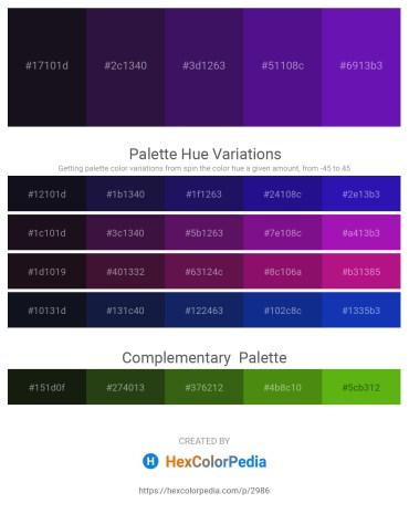 Palette image download - Black – Midnight Blue – Midnight Blue – Indigo – Blue Violet