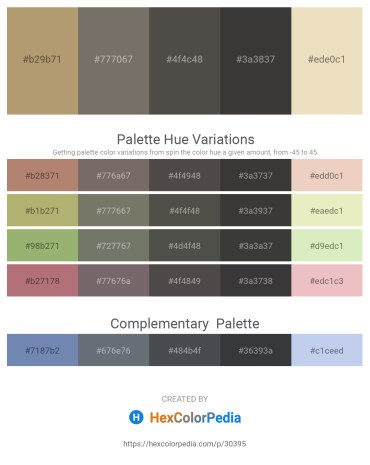 Palette image download - Dark Khaki – Dim Gray – Dim Gray – Dim Gray – Beige