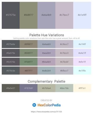 Palette image download - Slate Gray – Gray – Light Slate Gray – Thistle – Alice Blue
