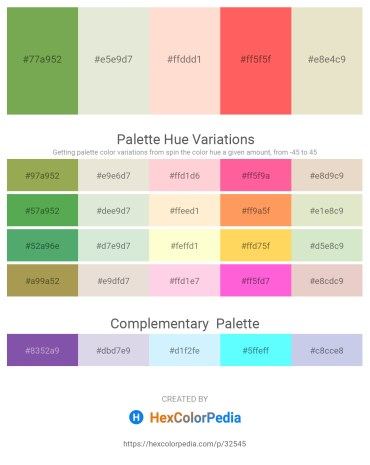 Palette image download - Dark Khaki – Beige – Misty Rose – Tomato – Beige