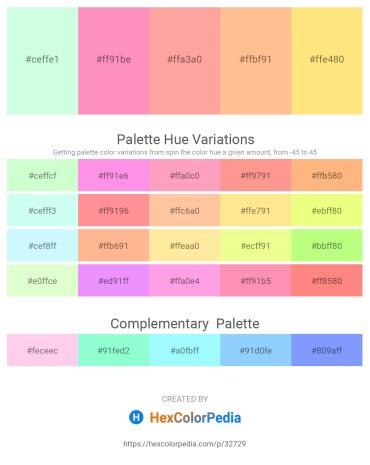 Palette image download - Honeydew – Light Pink – Light Pink – Light Salmon – Navajo White