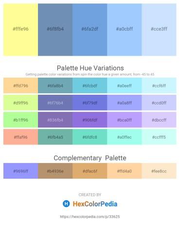 Palette image download - Navajo White – Cadet Blue – Cornflower Blue – Light Sky Blue – Alice Blue
