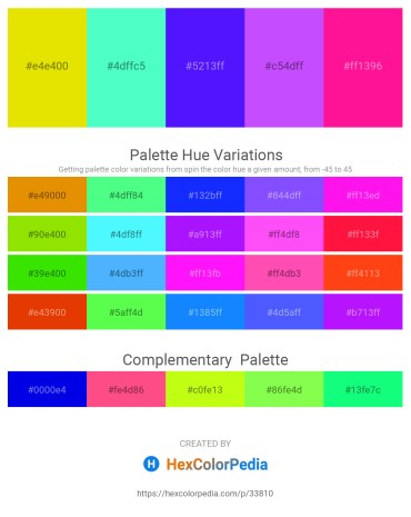 Palette image download - Gold – Aquamarine – Blue – Medium Slate Blue – Deep Pink
