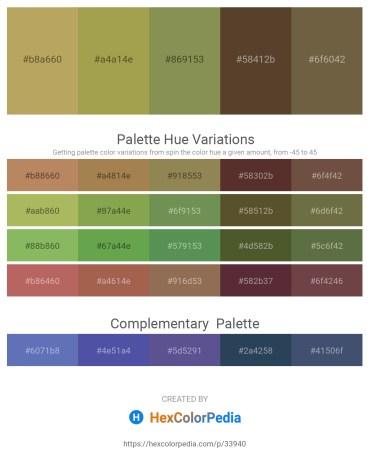 Palette image download - Dark Khaki – Dark Khaki – Dark Khaki – Olive Drab – Dark Olive Green