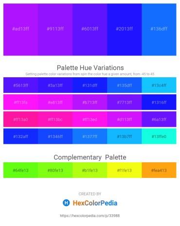 Palette image download - Dark Violet – Dark Violet – Dark Violet – Blue – Dodger Blue