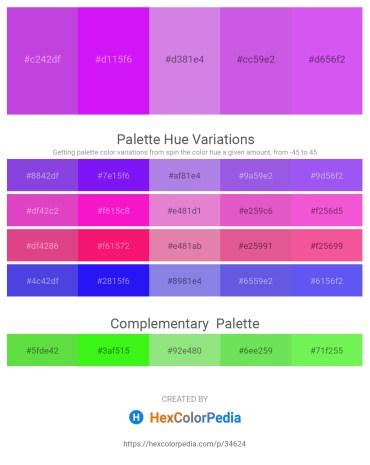 Palette image download - Medium Orchid – Dark Violet – Medium Orchid – Medium Orchid – Medium Slate Blue
