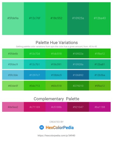 Palette image download - Medium Aquamarine – Turquoise – Lime Green – Teal – Lime Green