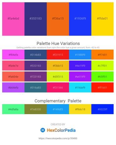 Palette image download - Hot Pink – Dark Slate Blue – Dark Orange – Blue – Gold