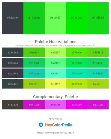 Palette image download - Dark Slate Gray – Lime – Green Yellow – Lime – Lime