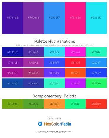 Palette image download - Indigo – Dark Orchid – Dodger Blue – Deep Pink – Aqua