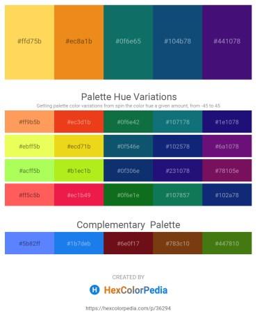 Palette image download - Gold – Goldenrod – Teal – Midnight Blue – Midnight Blue