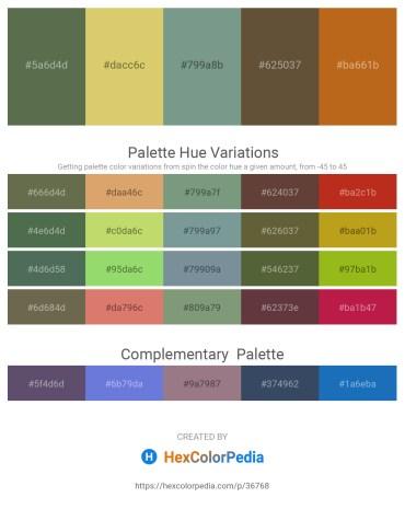 Palette image download - Dark Olive Green – Burlywood – Light Slate Gray – Dark Olive Green – Chocolate