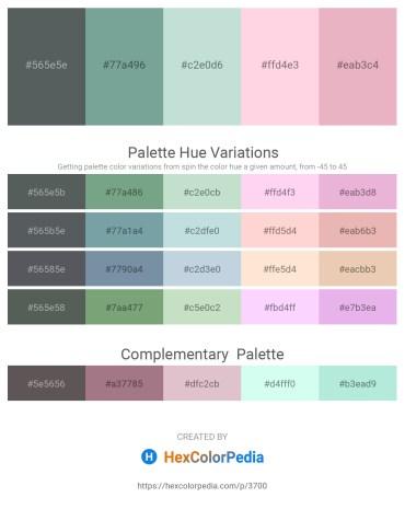 Palette image download - Slate Gray – Cadet Blue – Light Steel Blue – Misty Rose – Plum