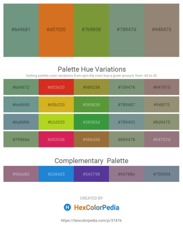 Palette image download - Cadet Blue – Chocolate – Olive Drab – Dark Sea Green – Gray