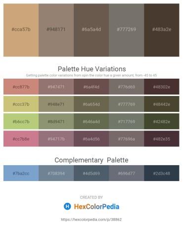 Palette image download - Tan – Gray – Dim Gray – Dim Gray – Dark Olive Green
