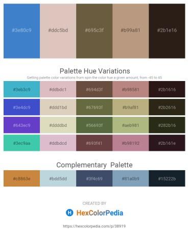 Palette image download - Steel Blue – Tan – Dark Olive Green – Rosy Brown – Dark Khaki