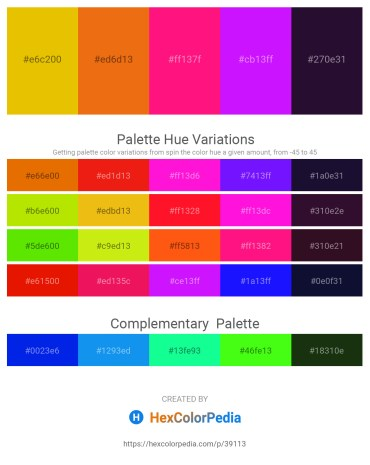 Palette image download - Gold – Chocolate – Deep Pink – Dark Violet – Midnight Blue