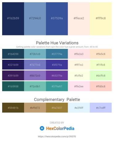 Palette image download - Midnight Blue – Steel Blue – Dark Slate Blue – Misty Rose – Lemon Chiffon