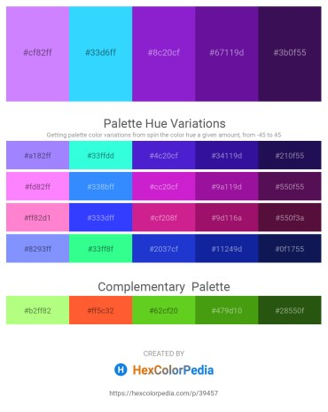 Palette image download - Medium Slate Blue – Deep Sky Blue – Blue Violet – Indigo – Midnight Blue