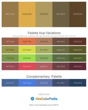 Palette image download - Sienna – Goldenrod – Dark Khaki – Dark Olive Green – Light Coral