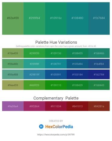 Palette image download - Medium Sea Green – Sea Green – Teal – Teal – Sienna