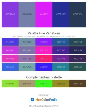 Palette image download - Blue Violet – Light Slate Gray – Dark Violet – Midnight Blue – Dark Slate Gray