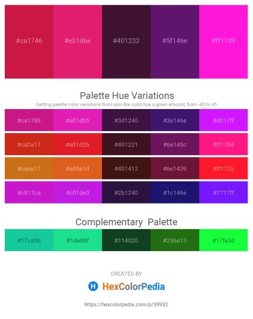 Palette image download - Crimson – Medium Violet Red – Lemon Chiffon – Midnight Blue – Magenta