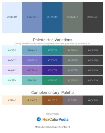 Palette image download - Alice Blue – Steel Blue – Steel Blue – Slate Gray – Dim Gray