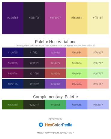 Palette image download - Midnight Blue – Purple – Slate Blue – Khaki – Wheat
