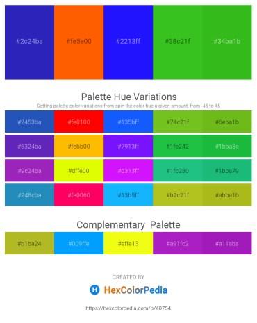Palette image download - Black – Orange Red – Blue – Lime Green – Lime Green