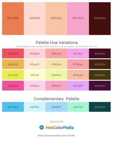 Palette image download - Sandy Brown – Misty Rose – Wheat – Light Pink – Midnight Blue