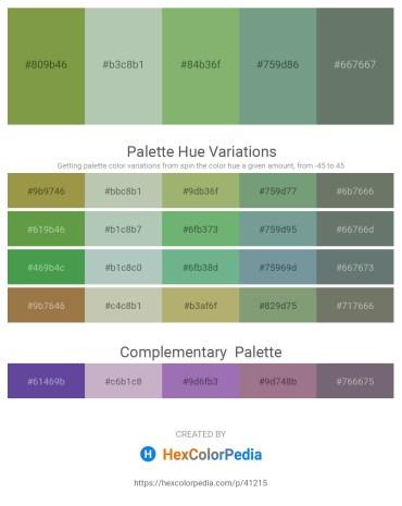 Palette image download - Dark Olive Green – Dark Sea Green – Dark Sea Green – Cadet Blue – Slate Gray