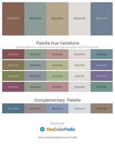 Palette image download - Dim Gray – Light Slate Gray – Rosy Brown – Gainsboro – Slate Gray