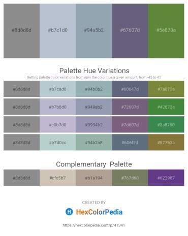 Palette image download - Gray – Light Steel Blue – Light Slate Gray – Slate Gray – Dark Olive Green