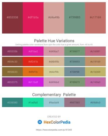 Palette image download - Sienna – Crimson – Tan – Cadet Blue – Indian Red