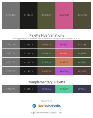 Palette image download - Dim Gray – Black – Dark Olive Green – Pale Violet Red – Dark Olive Green