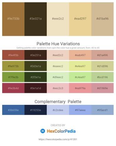 Palette image download - Sienna – Rosy Brown – Beige – Pale Goldenrod – Tan