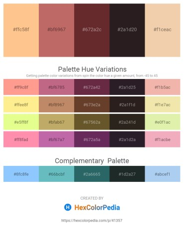 Palette image download - Navajo White – Indian Red – Dark Slate Gray – Black – Wheat