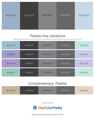 Palette image download - Light Steel Blue – Dark Slate Gray – Slate Gray – Dim Gray – Light Steel Blue