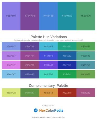 Palette image download - Medium Purple – Dark Slate Blue – Royal Blue – Light Sea Green – Medium Sea Green