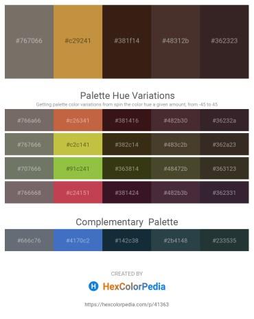 Palette image download - Dim Gray – Peru – Black – Dark Olive Green – Black