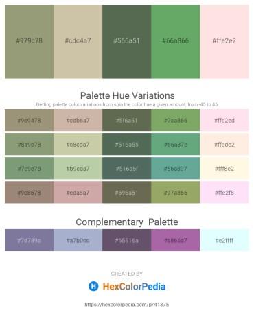 Palette image download - Dark Sea Green – Tan – Dark Olive Green – Dark Sea Green – Misty Rose