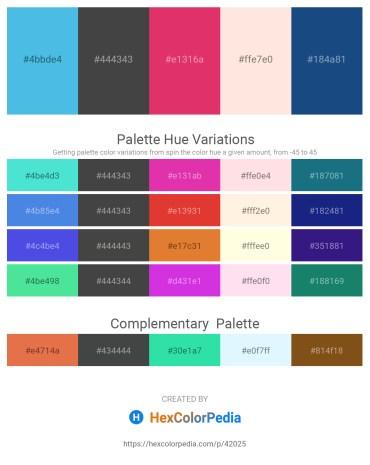 Palette image download - Medium Aquamarine – Dim Gray – Medium Violet Red – Misty Rose – Midnight Blue